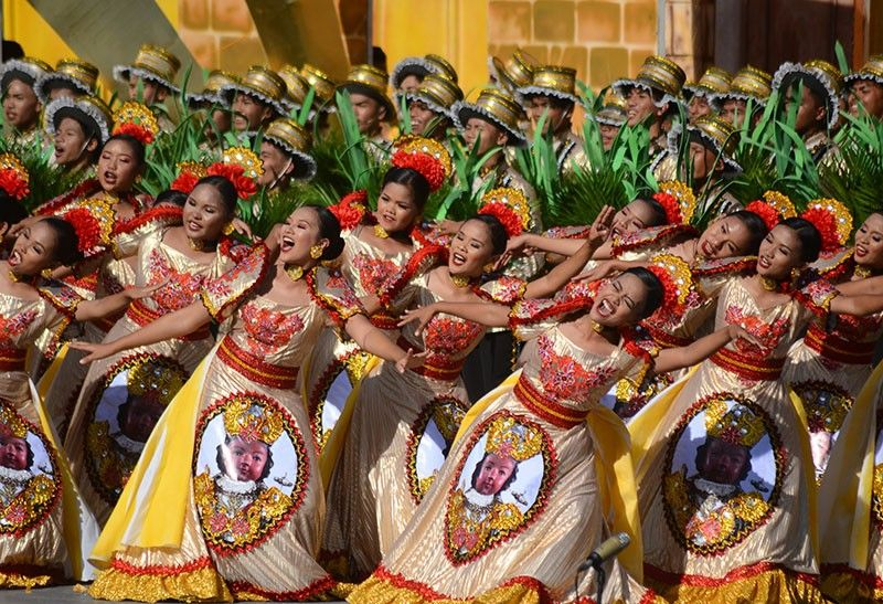 GRAND CHAMPION. Two-time Sinulog Festival grand champion Carcar City didn't waver in its hunt for a three-peat. It was declared champions in the Ritual Showdown competition of the Sinulog sa Kabataan sa Lalawigan on Saturday, Jan. 11, 2020. They triumphed in the Ritual Showdown, Musicality and Costume competitions, and placed second in the Street Dancing competition. (Photo by Alan Tangcawan)