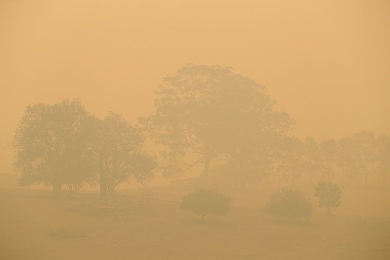 AUSTRALIA. A field is shrouded with smoke haze near Burragate, Australia, Saturday, January 11, 2020. Authorities were assessing the damage after firefighters battled flames fanned by strong winds through the night and lightning strikes sparked new blazes in New South Wales and Victoria, Australia's most populous states. Conditions were milder Saturday and forecast to remain relatively benign for the next week. (AP)