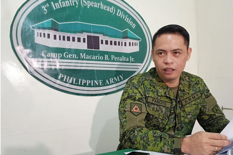 ILOILO CITY. Philippine Army 3rd Infantry Division (3ID) spokesperson Army Captain Cenon Pancito III during the press conference on Friday, January 10, 2020 at the 3rd Infantry Division Public Affairs Office (3IDPAO), Camp Martin Delgado in Iloilo City. (Photo by Leo Solinap)