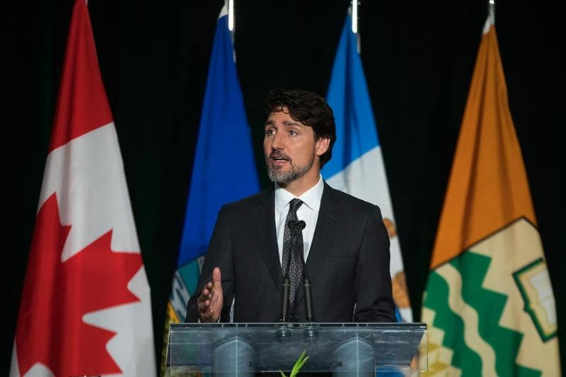 CANADA. Canadian Prime Minister Justin Trudeau speaks during a memorial for the victims of the Ukrainian plane disaster in Iran this past week, in Edmonton, Alberta, Sunday, January 12, 2020. (AP)