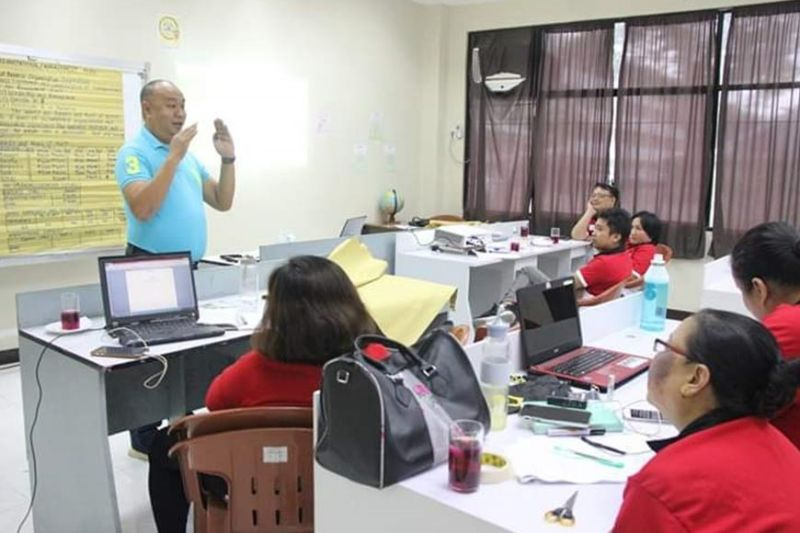 BACOLOD CITY. Department of Trade and Industry (DTI)- Negros Occidental Industry Development Division Officer-In-Charge Engiemar Tupas (standing) speaks during the training on entrepreneurship at the Negros Occidental Language and Information Technology Center in Bacolod City on Friday, January 10, 2020. (Contributed photo)