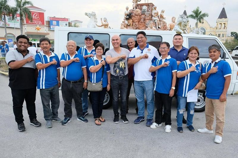MABALACAT CITY. Mabalacat City Mayor Crisostomo Garbo recently distributed rescue vehicles to seven barangays in the city. (Contributed photo)