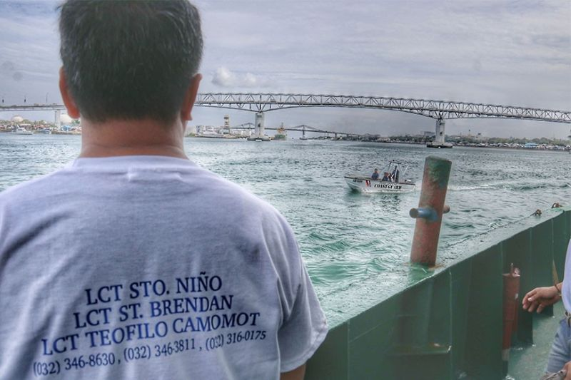 DRY RUN. Church officials and PNP and Coast Guard  personnel conduct a dry run on the seaborne procession on board lct  Teofilo Camomot on Monday, Jan. 13, 2020.  (Sunstar Photo /  Amper Campaña)