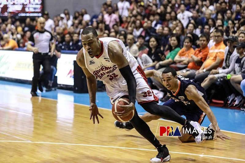 Justin Brownless pumped in 27 points to lead Ginebra to within a win away from the Governors' Cup title. (PBA Images)