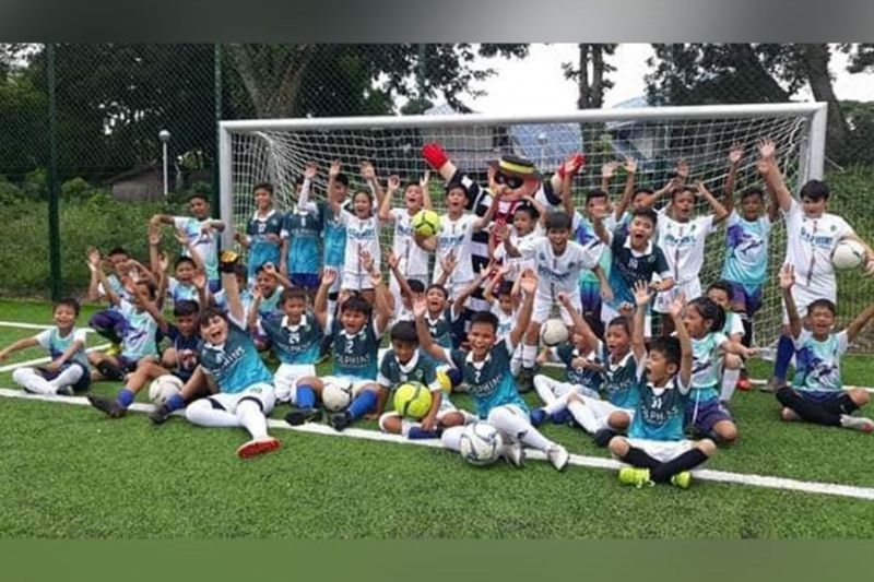Young footballers of the Dolphins FC Football Academy. (DFCA Photo)
