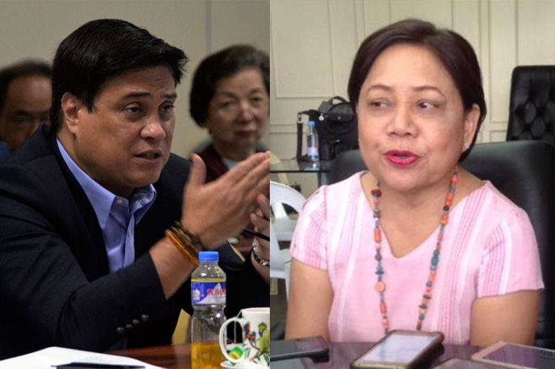 Senators Juan Miguel Zubiri (left) and Cynthia Villar (right) are in Negros Occidental today, along with Finance Assistant Secretary Antonio Joselito Lambino, to assess the current sugar industry situation here. (File Photos)