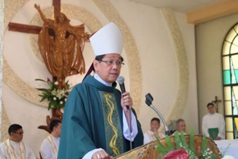DUMAGUETE. Bishop Julito Cortes of the Diocese of Dumaguete. (PNA)