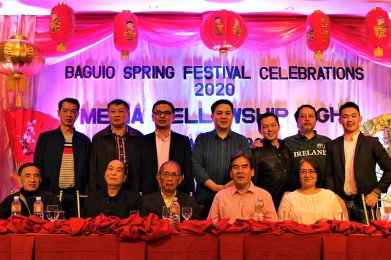 The Spring Festival Celebrations in Baguio 2020 executive committee and fengshui experts Adriel and Teresa Trinidad (Photo by Osharé)
