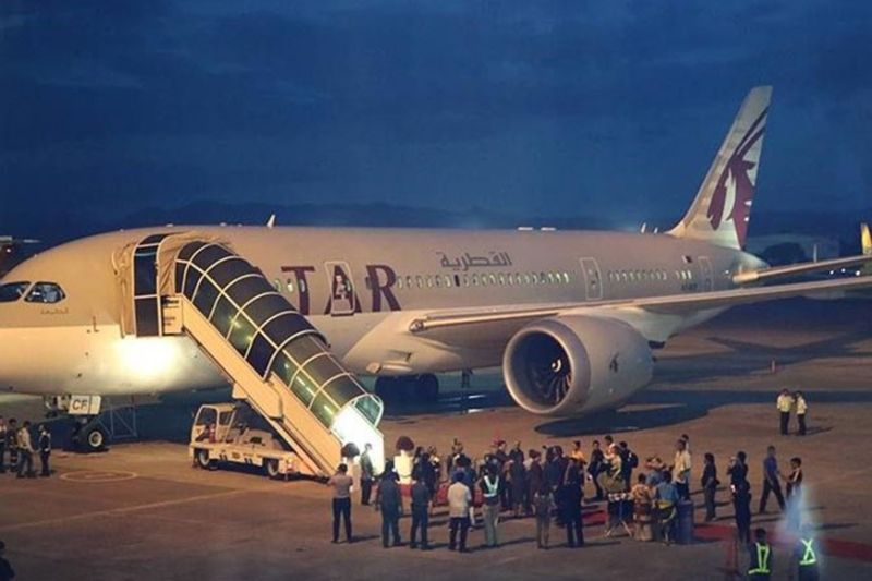 COMEBACK: After mounting its first long-haul flight connecting Davao to Doha on June 18, 2019, Qatar Airways is set for a comeback to Cebu on April 8, 2020 by connecting Cebu to Doha via thrice-weekly flights. (SunStar File Photo)