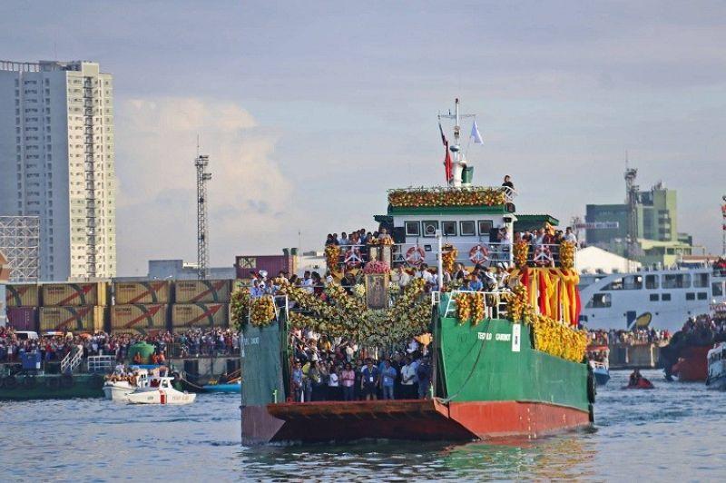 CEBU. Lieutenant Junior Grade Michael John Encina, PCG District Central Visayas spokesperson, said the Sinulog 2020 seaborne procession was generally successful. (Photo by Amper Campaña)