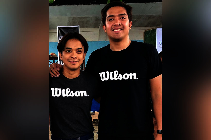 CAGAYAN DE ORO. Wilson Philippines Brand Manager Erol Elicanal with Wilson 3x3 Mindanao coordinator James Racines. (Jack Biantan)