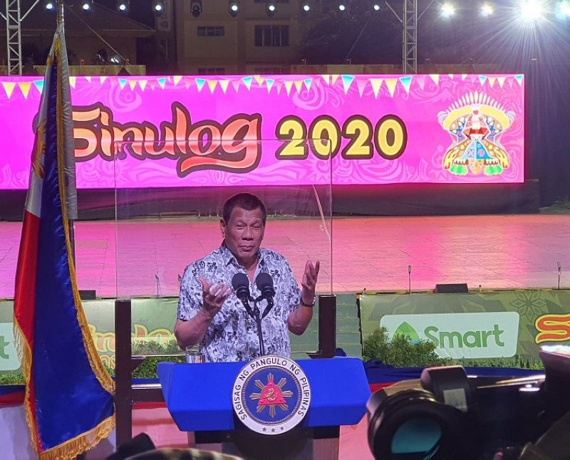 CEBU. President Rodrigo Roa Duterte attended the Sinulog Grand Parade at the Cebu City Sports Center on Sunday, January 19, 2020. <b>(Photo by Arni Aclao)</b>