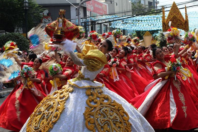 CEBU. The contingent from Tangub City, Misamis Occidental performs during the Sinulog Grand Parade 2020. (Jerra Librea)