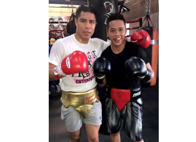 TRAINING. Former ALA Boy Jason Pagara (right), now based in the US, is helping Jessie Vargas prepare for his fight against Mikey Garcia. (Contributed photo)