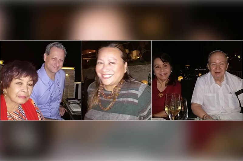 DINNER AT COWRIE COVE. Chinggay Utzurrum, Shangri-La's Mactan Island Resort and Spa general manager Christian Nannuci, director of sales and marketing Melissa Ann Santiago, Nelia Neri and Jimmy Picornell.