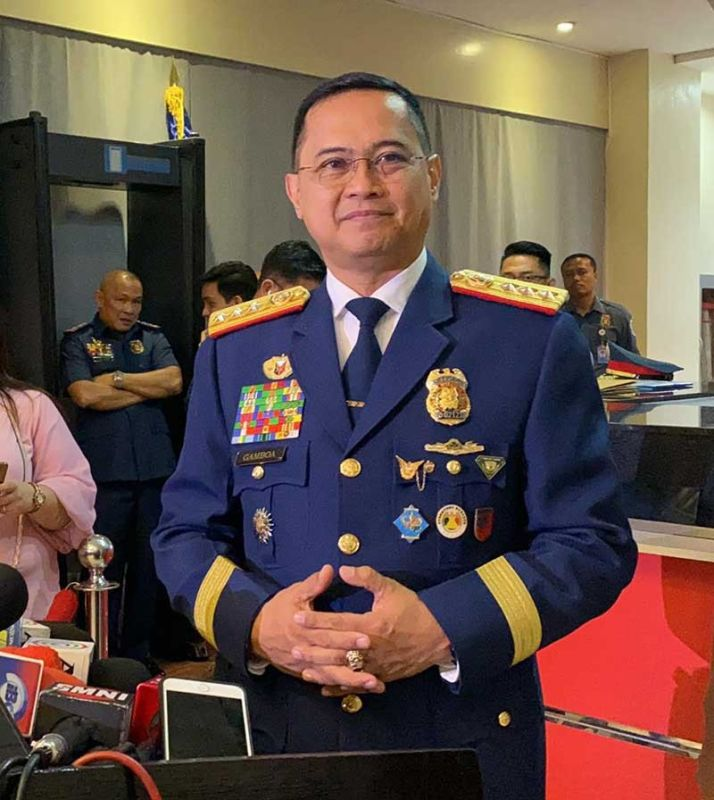 MANILA. New Philippine National Police (PNP) Chief Archie Gamboa holds a press conference after his oathtaking ceremony on January 20, 2020 in Camp Crame. (Photo by Third Anne Peralta-Malonzo)