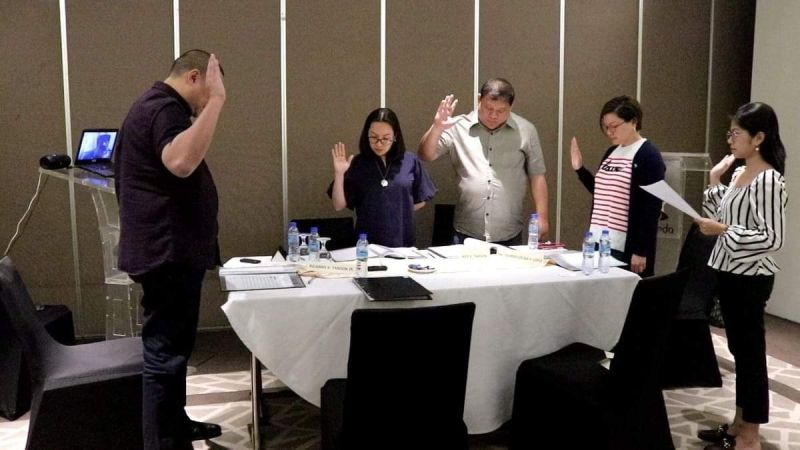 BACOLOD. The oath taking of the new members of the Board of Bachelor Express Inc. in Cagayan de Oro City. (Contributed photo)