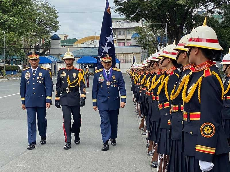 MANILA. New Philippine National Police Chief Archie Gamboa inspects the troops during the Troop the Colors ceremony Tuesday, January 21, 2020, at Camp Crame. (Photo by Third Anne Peralta-Malonzo)