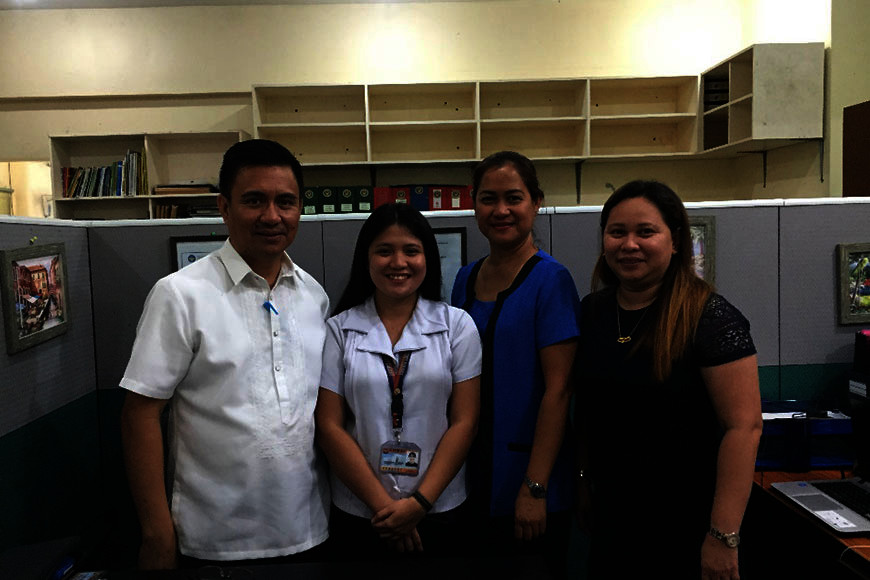 BACOLOD. Third year Bachelor of AB English student Carla Mae Mesa (second from left) with (from left) College of Arts and Sciences Dean Dr. Jay Estrellas, Director for Training Services Dr. Amelia Calfoforo and AB English Program Chair Mary Leanne Laganhon. (Contributed photo)