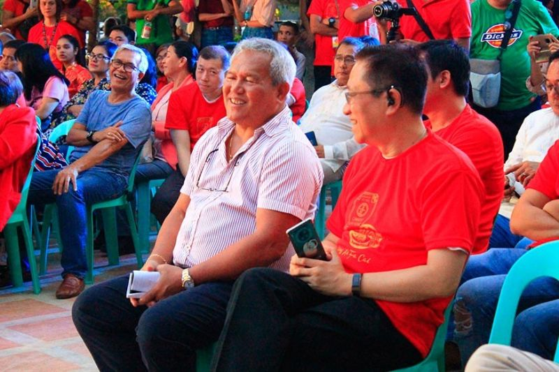 CAGAYAN DE ORO. Cagayan de Oro City Mayor Oscar Moreno, who graces the occasion, is pleased to see that the Filipino and Chinese communities are gathered as one to witness the beginning of the Chinese New Year celebration in the locality. (Joan Sablad)