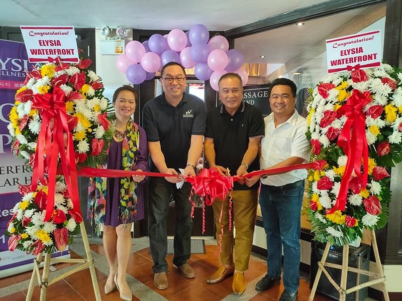 NINTH BRANCH. The Al-ag Group of Companies opens the 9th branch of Elysia Wellness Spa at the Waterfront Insular Hotel Davao. (From left) Cherry Al-ag, general manager of Elysia; Bryan Lasala, hotel manager of Waterfront Insular Hotel; Councilor Nonoy Al-ag, and Dr. Bernie Al-ag, CEO of Al-ag Group. (Photo from Elysia Wellness Spa and RJ Lumawag)