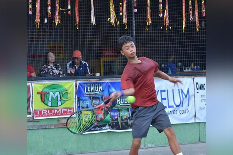 WORLD JUNIOR DEBUT. Davao City's Christian Nathaniel Angus will don the country's colors in the 2020 ITF World Junior Tennis Competition (Asia/Oceania Qualifying Zone) slated February 17 to 22 in Jakarta, Indonesia. (Boy Diong)