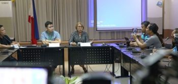 LEYTE. Department of Health-Eastern Visayas Director Minerva Molon (3rd from left) answers questions from the local media during a press briefing on the deadly novel coronavirus (nCoV) on January 24, 2019. (Photo courtesy of DOH-Eastern Visayas)