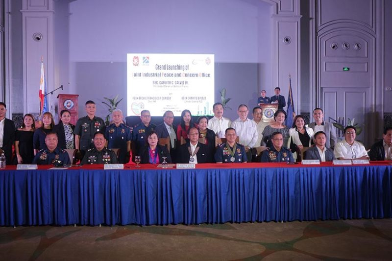 "CLARK FREEPORT. The government, through Police Regional Office Central Luzon, launched the Joint Industrial Peace Concerns Office that will be the ""first line of defense"" of industries in Central Luzon against infiltration of communist front organizations. (Contributed Photo)"