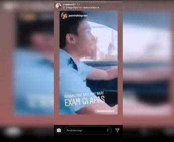 CEBU. Screenshot gikan sa nag-viral nga video sa social media diin nag-drive ang usa ka lalake sa usa ka sakyanan nga nagwang-wang. (Screenshot gikan sa Facebook page ni Mayor Ahong Chan)