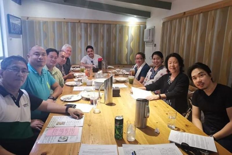 BACOLOD. BNEFIT officials led by president Hajee Birth Aquino (right) with incorporators and original members during their meeting in Bacolod City recently. (Contributed Photo)