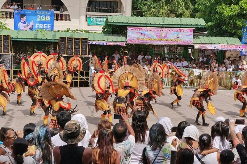 BACOLOD CITY. Ati-atihan tribal dancers compete at the 46th Dinagsa Festival street parade on Friday, January 25. (Contributed photo)