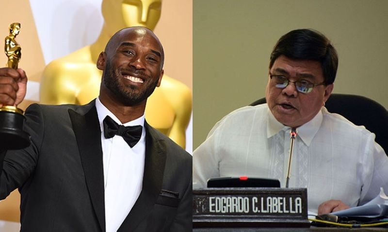 NBA star Kobe Bryant and Cebu City Mayor Edgardo Labella. (AP/SunStar)