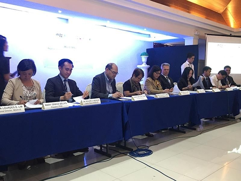 Innovation stakeholders formally launched the Regional Inclusive Innovation Center (RIIC), a program aims to link micro, small, and medium enterprises, government, and academe in the development of technology and innovation for business growth. (Photo by Roberto A. Gumba Jr.)