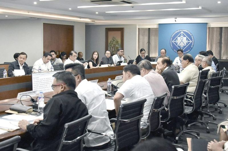 NEDA SESSION. Members of the National Economic and Development Authority-Investment Coordination Committee meet and approve four major infrastructure projects, including the Cebu-Mactan Bridge (4th Bridge) and Coastal Road Construction Project (New Mactan Bridge Construction Project). (Contributed photo)