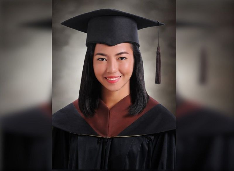 CEBU. Charimae Budiongan of the University of San Carlos ranked fifth in the January 2020 Architect Licensure Examination with a rating of 82.60 percent. (Photo courtesy of Charimae Budiongan)