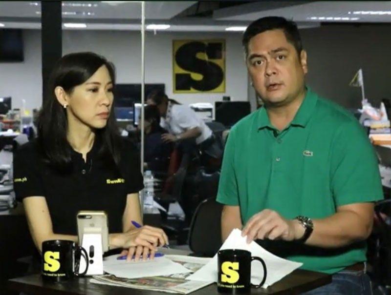 SunStar Editor Cherry Ann Lim and Martin Andanar during interview