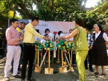 GROUNDBREAKING. Top officials of Sterling Land Residences and Development Inc. led by chairman Eduardo Padilla and president and chief executive officer Marilou Padilla preside the groundbreaking ceremony of The Skyline, the company's 25-storey residential tower located in Lahug, just a few blocks from Cebu IT Park.