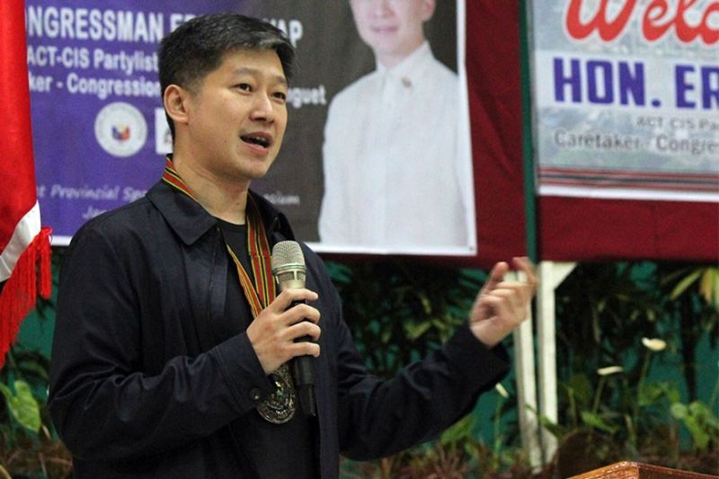 BAGUIO. Benguet caretaker Eric Go Yap address residents and officials as he assured continued services for all needs of the province. (Photo by Jean Nicole Cortes)