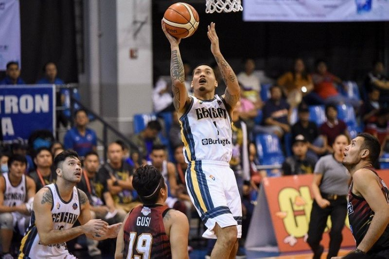 Former Southwestern University-Phinma forward Juju Bautista scores on a layup for General Santos. (Photo by MPBL)