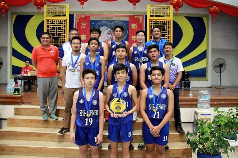 CEBU. The Under-13 squad of Ateneo de Cebu proved dominant in the finals against Ateneo de Iloilo. (Contributed photo)