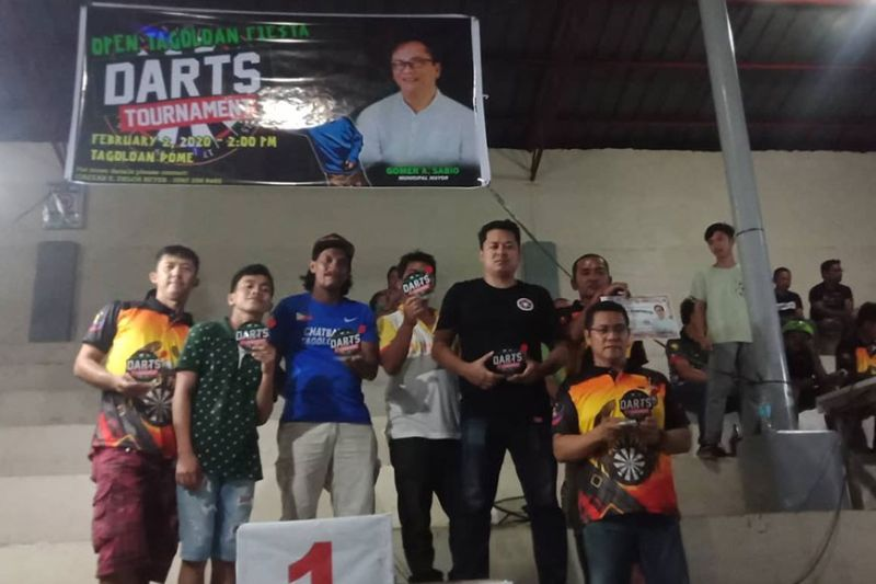CAGAYAN DE ORO. Winners of the just-concluded Tagoloan Fiesta Open dart competition 2020. (Dave Casas/Contributed Photo)