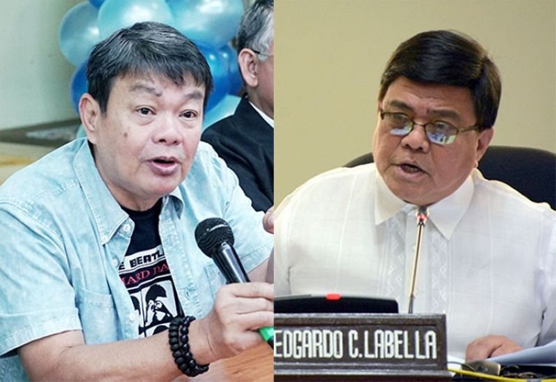 CEBU. Cebu City Mayor Edgardo Labella (right) and LWUA acting manager Jeci Lapuz. (SunStar/PNA)