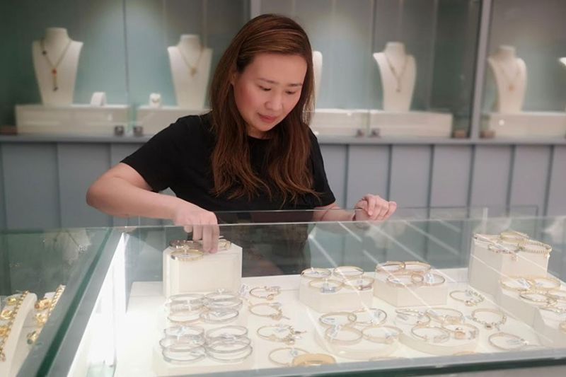 for fashion, future use. Candice Yap, a fine jewelry retailer, opens Jewels by Audrey in Ayala Malls Central Bloc. She hopes to entice young workers to buy fine jewelry as an investment. (Contributed Photo)
