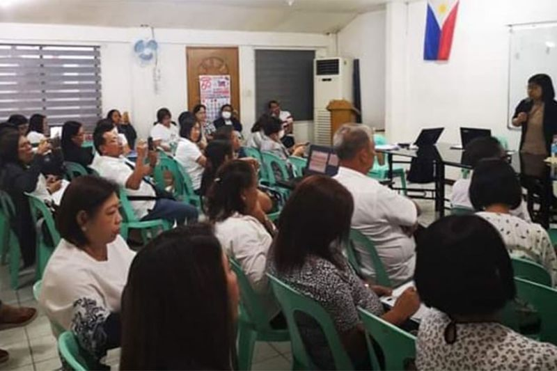 BACOLOD. Provincial Agrarian Reform program officer II Teresita Mabunay speaks before the Municipal Agrarian Reform Program Officers of DAR-Negros Occidental during their monthly conference at the agency's provincial office in Bacolod City Monday, February 3, 2020. (Contributed Photo)