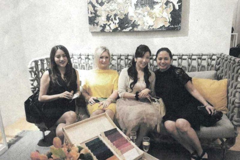 TRENDY GUESTS. From left: Krizia Soco, Yvette Vass, Kumiko Onda and Kristalle G. Kekert.