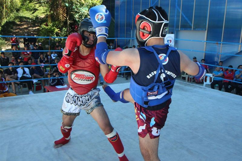 BAGUIO. While Muay Thai has yet to become a regular sport in the Palarong Pambansa, the Cordillera will be among, if not the first to make the event a demo sport in the upcoming Cordillera Administrative Region Athletic Association (Caraa). (Photo by Jean Nicole Cortes)