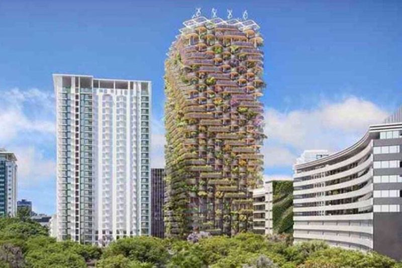 PREMIUM, WORLD-CLASS PROJECTS. Cebu City is living up to its new name as a Creative City for Design as two high-rise projects to be located inside the Cebu Business Park will be designed by world-class designers. The photo shows the design of The Rainbow Tree, a green building designed by Paris-based Vincent Callebaut Architectures that will rise at the corner of Samar Loop and Cardinal Rosales Avenue.  (Photo From Vincent.callebaut.org Website)