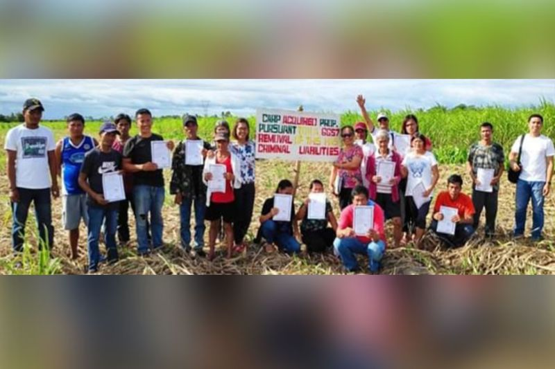 PHOTO: BACOLOD. Farmer-beneficiaries of the 43-hectare land in E.B. Magalona town who were installed by the Department of Agrarian Reform - Negros Occidental I on Wednesday, February 5, 2020. (Contributed Photo)