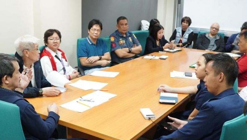 BACOLOD. The Bacolod City Task Force African Swine Fever holds a meeting, presided by its vice chairman, City Agriculturist Atty. Goldwyn Nifras, at the Bacolod City Government Center Thursday, February 6, to discuss updates on ASF. (PR)