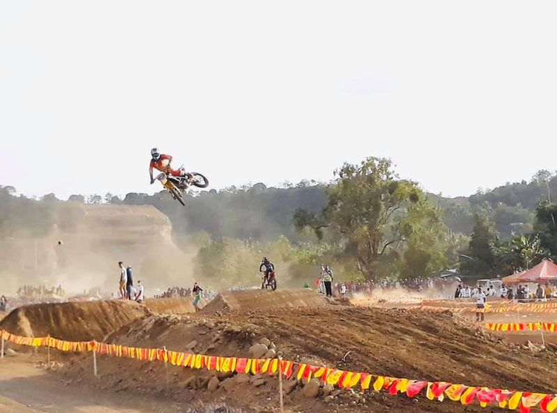 CAGAYAN DE ORO. Just a glimpse of the high-wire motocross competition in Barangay Natumolan, Tagoloan, Misamis Oriental recently. (Contributed photo)